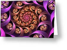 Fractal Multicolored Depth Greeting Card