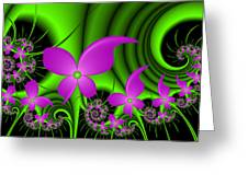 Fractal Neon Fantasy Greeting Card