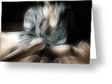 Fractal Nude 8637 Greeting Card