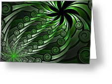 Fractal On The Way Greeting Card