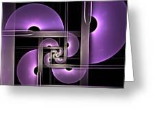 Fractal Purple Semicircles Greeting Card