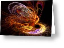 Fractal - Rise Of The Phoenix Greeting Card
