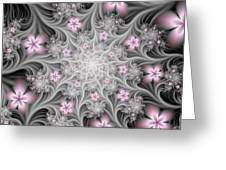Fractal Soft Flowers Greeting Card