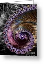 Fractal Spiral 2 - A Fractal Abstract Greeting Card