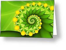 Fractal Sweet Yellow Fruits Greeting Card