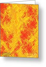 Fractalia For Red And Yellow Colors V Greeting Card