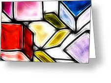 Fractalius Cubes Greeting Card by Sharon Lisa Clarke