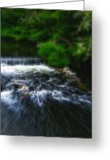 Fractalius - River Wye Waterfall - In Peak District - England Greeting Card