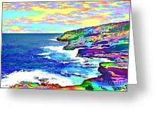 Fractalona Coast Greeting Card