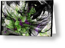 Fractured Bloom  Greeting Card