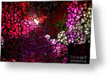 Fractured Color Greeting Card