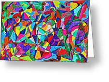 Fractured Kaleidoscope Greeting Card