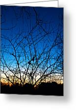 Fractured Sunset Greeting Card
