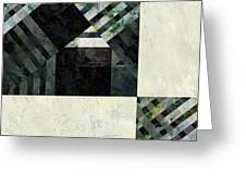 Fragmented Abstract Art Greeting Card