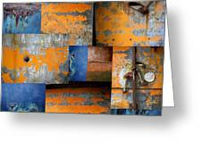 Fragments Antique Metal Greeting Card by Ann Powell