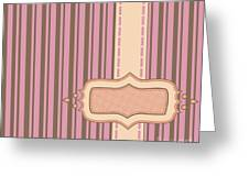 Frame With Ribbon Pinstripe Vector Greeting Card