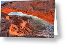 Framed By Mesa Arch Greeting Card