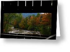 Framed Fall Foliage Greeting Card
