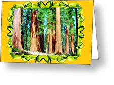Framed Sequoias Greeting Card