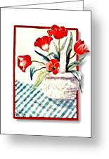 Framed Tulips Greeting Card