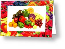 Framed Veggies Greeting Card