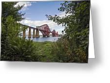 Framing The Forth Bridge Greeting Card