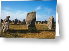 France Brittany Carnac Ancient Megaliths  Greeting Card