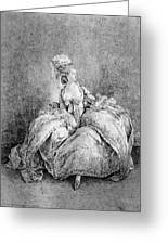 France Court Life, 1778 Greeting Card