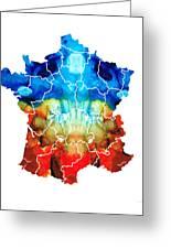 France - European Map By Sharon Cummings Greeting Card
