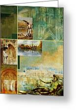 France Unesco World Heritage Poster Greeting Card