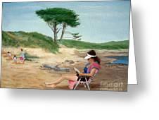 Frances At The Beach Greeting Card