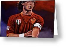 Francesco Totti Greeting Card by Paul Meijering