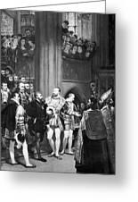 Francis I & Charles V Greeting Card