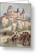 Francis I Held Prisoner In A Tower Greeting Card