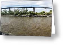 Francis Scott Key Bridge - Pano Greeting Card