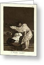 Francisco De Goya Spanish, 1746-1828. Mala Noche. A Bad Greeting Card