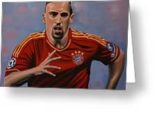 Franck Ribery Greeting Card by Paul Meijering