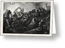 Franco-prussian War Prussians In Metz Greeting Card