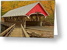 Franconia Notch Flume Gorge Bridge Greeting Card