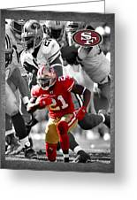 Frank Gore 49ers Greeting Card by Joe Hamilton