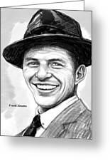 Frank Sinatra Art Drawing Sketch Portrait Greeting Card