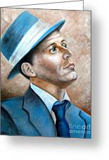 Frank Sinatra Ol Blue Eyes Greeting Card