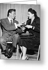 Frank Sinatra Signs For Fan Greeting Card