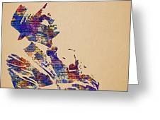Frank Sinatra Watercolor Greeting Card