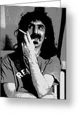Frank Zappa - Chalk And Charcoal Greeting Card by Joann Vitali