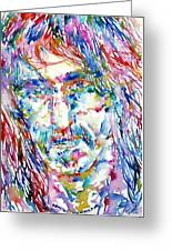 Frank Zappa  Portrait.3 Greeting Card