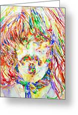 Frank Zappa Watercolor Portrait.1 Greeting Card