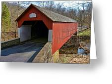 Frankenfield Covered Bridge Greeting Card