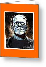 Frankenstein Boris Karloff Greeting Card