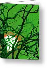 Frankenstein Moon Greeting Card by First Star Art